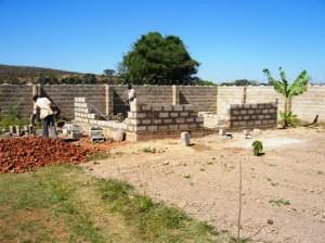 5. HM shed walls begin